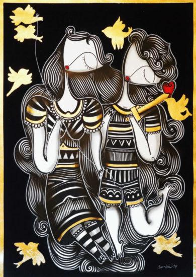 Οι απρόμαυρες γυναικείες φιγούρες του Sonke