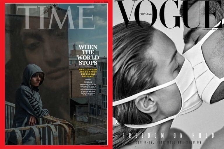 Τα εξώφυλλα των περιοδικών TIME και Vogue Portugal για τον κορωνοϊό