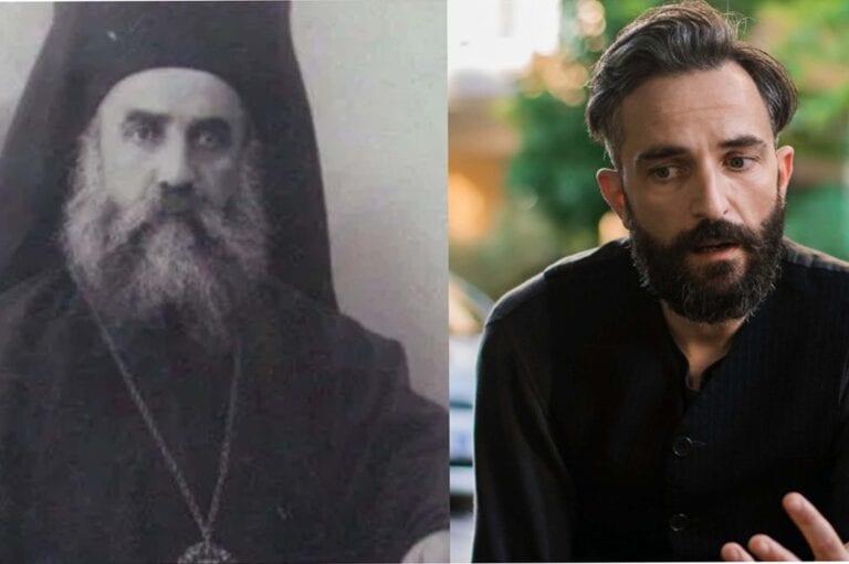 Ο Άρης Σερβετάλης στο ρόλο του Αγίου Νεκταρίου