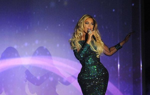 Various celebrities perform at the live show of the Brit Awards 2014 held at the 02 Arena, Greenwich, London, UK Pictured: Beyonce Ref: SPL704174 190214 Picture by: Steve Finn/Splashnews Splash News and Pictures Los Angeles: 310-821-2666 New York: 212-619-2666 London: 870-934-2666 photodesk@splashnews.com